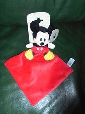 Doudou Nicotoy Disney Souris Mickey  Plat Losange 3D Noire Rouge Jaune