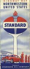 1952 Northwest United States Road Map from Standard Oil of Indiana – Near Mint!