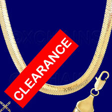 "Wholesale Closeout Lots 30"" Huge Gold Gp 12mm Herringbone Chain Necklace Who12J"