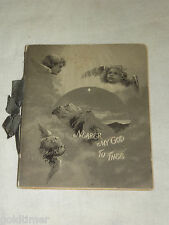 VINTAGE 1800S ANGELS BOOK  CASTELL BROTHERS NEARER MY GOD TO THEE BOOKLET