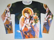 Blanco Tara tipet NEPAL BUDDHA RELIGION tattoo Diseñador VIP TIPO Camiseta S