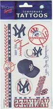 NEW YORK YANKEES TEMPORARY TATTOOS NEW & OFFICIALLY LICENSED