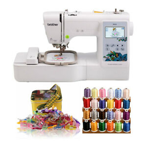 Brother PE535 4x4 Inch Embroidery Machine with Embroidery Machine Thread Bundle