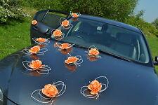 Coche Boda Decoración Mariposas Kit Naranja