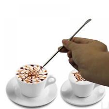 13,5 cm Edelstahl Latte Pen Art Barista Espresso Kaffee Dekorieren Nadel DE