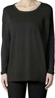 Diesel Women's T-RONG-A T-Shirt Cotton Long Sleeve Chest Pocket Black $98 NWT