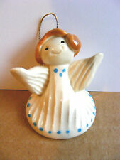 Little Guys Brunette Angel Christmas Ornament Miniature Cindy Pacileo Pottery