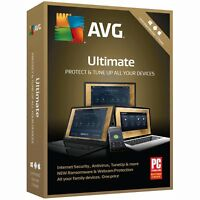 AVG 2018 ULTIMATE 2Years Unlimited Devices Internet Security Antivirus PC TuneUp
