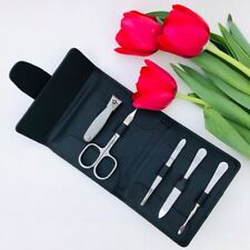 Niegeloh Solingen 5 pcs TopInox® Germany Manicure Set In Shpitser Leather Case