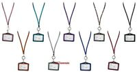 Rhinestone Bling Crystal Horizontal ID Badge Holder - Lanyard Sold Separately