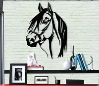 Horse Head Metal Wall Art Decor Home Office Living Room Bedroom Decoration
