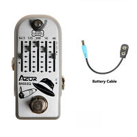 AZOR Bass EQ Mini Guitar Effect Pedal 5 Band EQ Pedal 9V Pedal AP-323