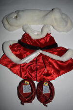 Build-A-Bear Christmas Dress with Shawl and Red Shoes