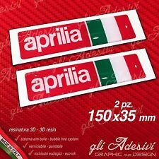 2 Adesivi Resinati Sticker 3D APRILIA Racing Italia 150 mm.