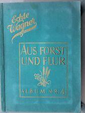 6378 Wagner Margarine Sammelbilder Album Aus Forst und Flur 4 card book animals