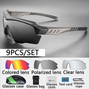 ROCKBROS Polarized Sunglasses Outdoor Cycling Eyewear Goggles UV400 with 3 Lens