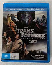 TRANSFORMERS: The Last Night 3D + 2D BLU-RAY 3-Disc oz seller Michael Bay
