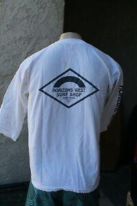 Horizons West Surf Shop Santa Monica Zephyr Punk Used Mid-Sleeve White T-Shirt