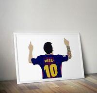 Messi, Barcelona, Football, Print, Poster, wall art, gift, home decor