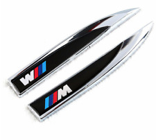BMW M SPORT M Performance Badge Sticker Side Body 3d Logo Blade x2 Door Trunk