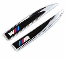 BMW M SPORT Metal Side-car Wing badge autocollant corps Lame Porte Aile-Pack de 2