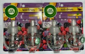 2 Packs Air Wick Wild Berries Essential Oils Scented Oil 2 Refills Per Pack