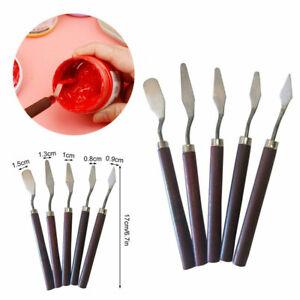 5Pcs Pallette Knife Painting Pallet Knives Scraper Soft Grip Paint Oil Acrylic
