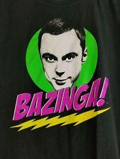 Big Bang Theory Sheldon Bazinga T Shirt Mens L Red Cotton Ripple Junction