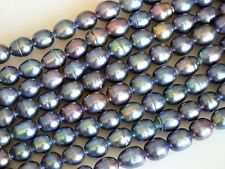 9-10x11-12mm Peacock Large Hole Freshwater Pearl Beads 8 inches Hole 2.2mm #728
