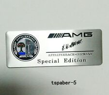 New Aluminium AMG Emblem fender badge Car Body Side Skirts Sticker Trunk Decal