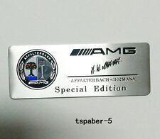 New Aluminium AMG Emblem fender badge Car Body Side Skirts Sticker Trunk Decal