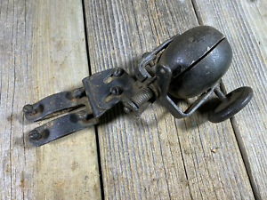 VINTAGE ANTIQUE BIKE BICYCLE WHEEL OPERATED BELL SIREN CLAMP ON FORKD WORKING