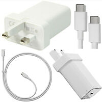 New Google Pixel 2 /3 & XL UK Wall Charger Adapter + 3.1 Type-C 1.0 Data Cable