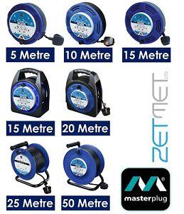 Extension Cable 5M/10M/15M/20M/25M/50M 4 Gang Way Cassette Case Reel Lead Socket