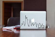 MacBook Pro 13 Decal Sticker New York Skyline Outline Matte Black