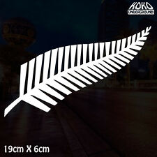 New Zealand NZ Kiwi Maori Silver Fern Vinyl Decal Sticker Wall Car 4X4 Ute 19cm