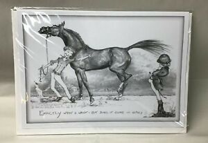 """Jude Too Equestrian Greeting Card """"exactly what I want but does it come in grey"""""""