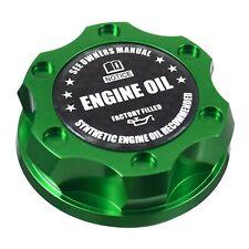 V2 Green Billet Oil Filler Cap Carbon Fiber Engine Emblem For Honda & Acura