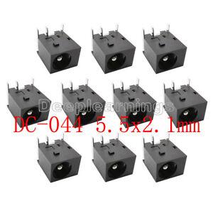 10Pcs/lot 5.5x2.1mm DC Power Jack Socket DC044 5.5*2.1mm DC Power Supply DC-044