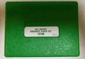 Greenlee Ball Bearing Knockout Punch Set 737BB New
