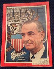 PRESIDENT JOHNSON TIME MAGAZINE NOVEMBER 29 1963 VERY GOOD FREE SHIPPING
