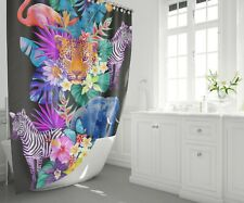 Tropical Animals shower curtain jungle shower curtains colorful shower curtain