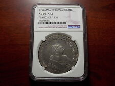 1752 MMD Russia Rouble silver coin NGC AU