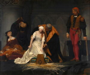 Paul Delaroche The Execution of Lady Jane Grey Giclee Canvas Print Poster