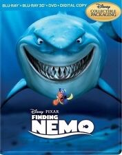 Finding Nemo 3D Collectible SteelBook [3D + Blu-ray + DVD + Digital, 5-Disc] NEW