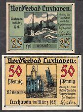 Cuxhaven-Città - 25 pf. e 50 pf., 2 serial banconote (L 241)
