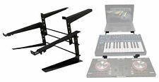Rockville Rock2d2 Adjustable Dual Shelf DJ Controller Midi Keyboard Laptop Stand