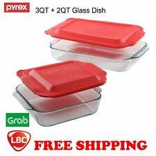 Pyrex glass basics 3qt oblong & 2qt Square Baking Dish