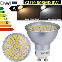4 10x 20x 40x LED Ampoule LED Lampe 8W GU10 80SMD 3528 Blanc Chaud Froid Lumière