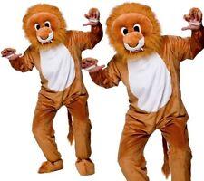 Adulte Leo Lion Costume Mascotte Unisexe Jungle Animal Big Head Déguisement